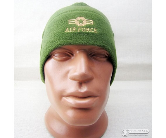 Шапка флисовая Air Force зелёная